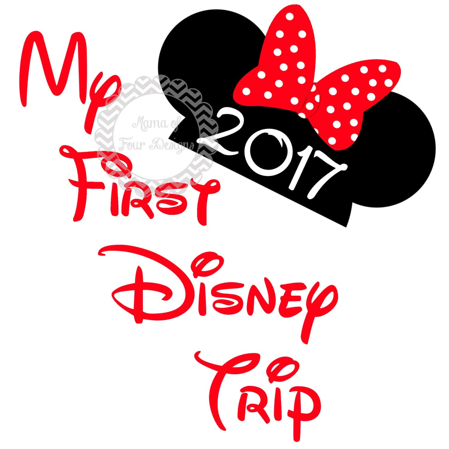 DIY My First Disney Trip 2017 Iron On Transfer