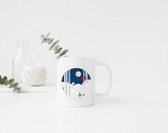 PLASTIC MUG, Coffee Mug, Coffee Cup, Snow Owl, Snow, Aspens, Mug