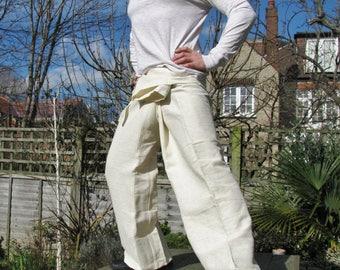 Handwoven 100% Cotton ultra tough thai fisherman pants TALL SIZE trousers