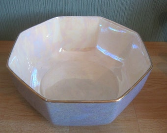 Crown Ducal Octagonal Blue Lustre Bowl