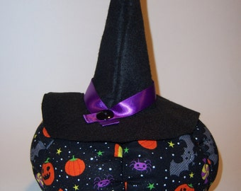 Halloween Pumpkin with Witch's Hat