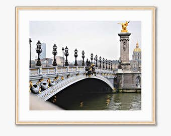 Paris Photograph -- Ponte Alexandre III -- Travel Photography -- 10 X 8 Inch Print