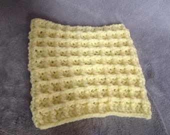 Crochet wash cloth, waffle stitch