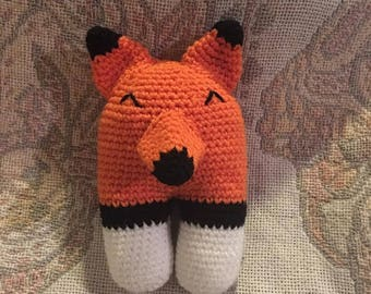 Fox Crochet Rattle Acrylic Yarn