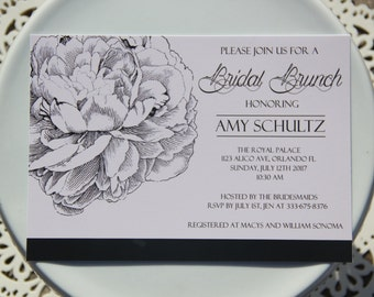Elegant Bridal Shower/Brunch Invitation