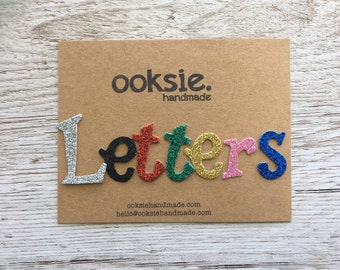 Fun Serif glittter cardboard die cut letters