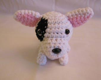 BULL TERRIER - Crochet Amigurumi - Crochet Dog, Crochet Puppy