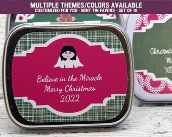 Christmas Party Ideas - Christmas Party - Christmas Party Themes - Christmas Party Favors - Christmas Party Gifts - Mint Tins - Set of 10