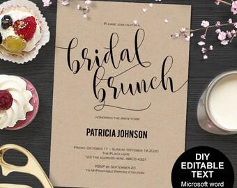 Brunch bridal shower invitations, Bridal brunch invitations, bridal brunch shower invitations, printable,DIY, printable, Modern, simple