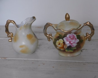 Enesco Vintage Floral Cream and Sugar