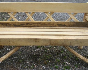 Garden Bench Made From Sweet Chestnut & Oak 5ft  Three Seater.