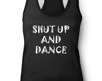 ShutUpAndDance Ladies / Vest / Racerback / Scoop Neck