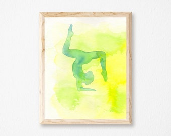 Yoga Pose Print - Forearm Stand Yoga Pose - Yoga Artwork Posters - Yoga Pose Art - Yoga Wall Posters - Yoga Studio Print - Yoga Studio Decor