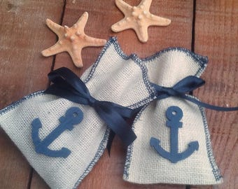 Nautical Favor Bag - Ivory Favour Bag- Beach Wedding Favor Bag - Wedding Favor - Favor Bag - Gift Bag - Beach Wedding - Set of 25