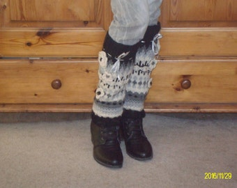 Knit Leg Warmers .Knit Boot Socks .Gift For Women . Made to order