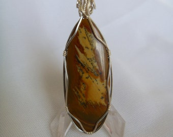 Sterling Silver Owhee Jasper pendant