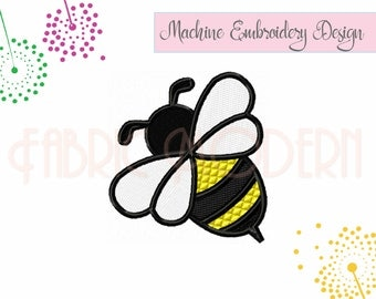 BEE design, Machine Embroidery Design,  Bumble Bee, six sizes, Instant Download, #810