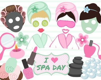 Instant Download Spa Party Photo Booth Props, Digital Spa Girl Photobooth Props, Digital Spa Day Photo Booth Props, 0183