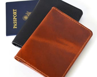Leather Passport Wallet, Passport Cover, Passport Holder