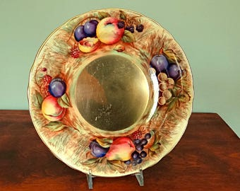 Aynsley Orchard Gold Salad Plate Hand Painted Fruit