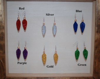 Glitter Arrowhead Style Earrings in 6 different colors