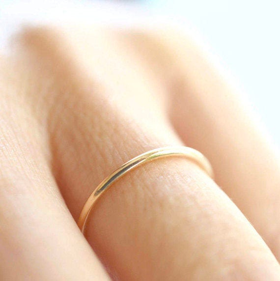 Thin Gold Band, Ultra Thin Gold Ring, Solid Gold Band, Skinny Ring ...