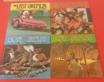 Gremlins Story Book with Record  2 3 4 5 Read A Long Lot, 1984