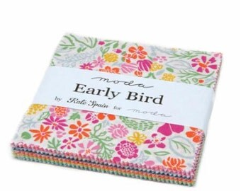 "Early Bird by Kate Spain for Moda Fabrics Charm Pack (5"" x 5"" squares)"