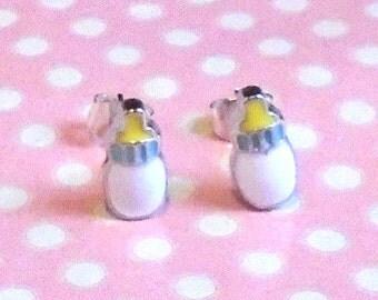 Cute milk bottle studs