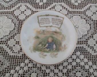 Rare Vintage Royal Bayreuth Little Boy Blue Nursery Rhyme Child's Tea Set Saucer  Early 20th Century  #16206