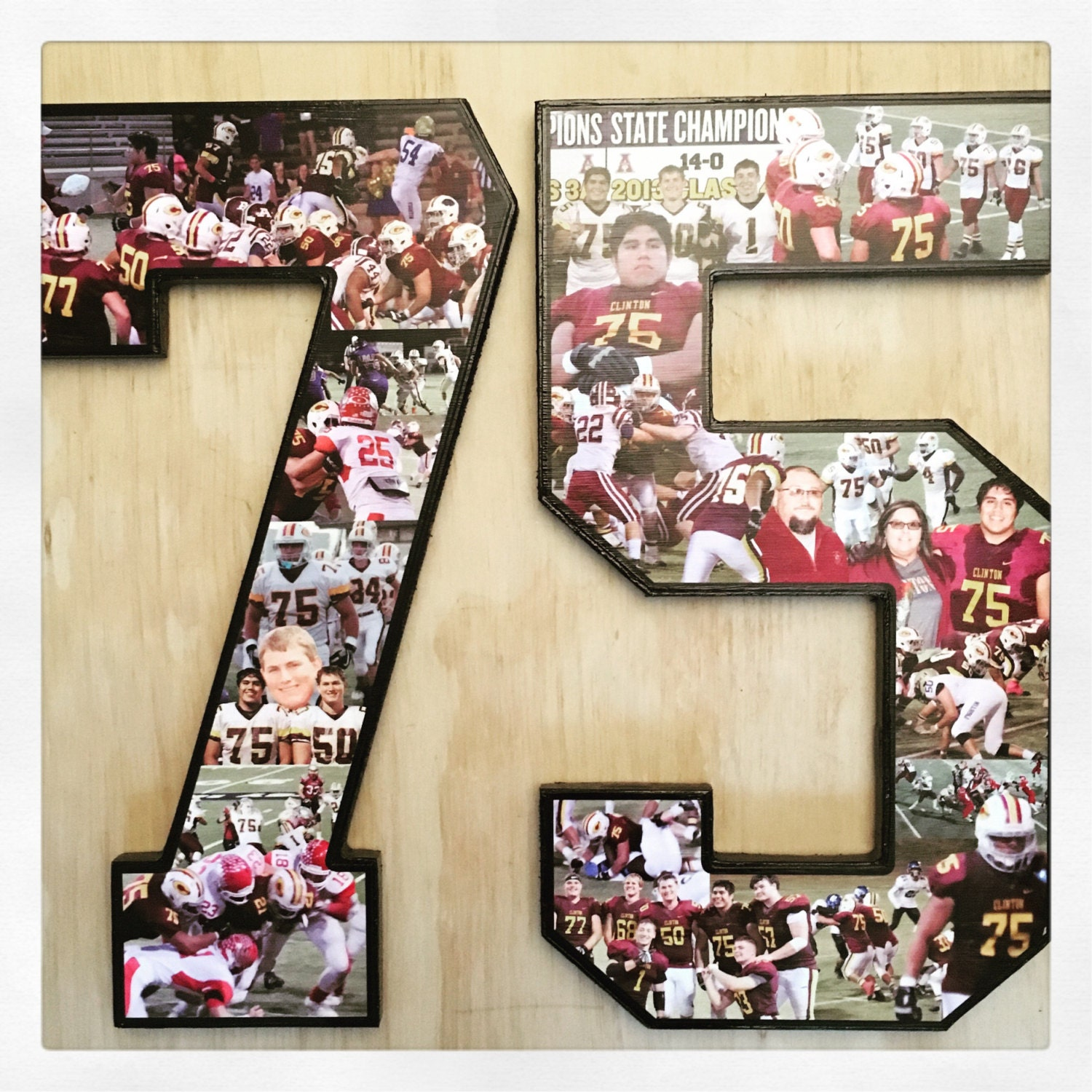 Photo Collage Numbers Number Collage Customize For Your