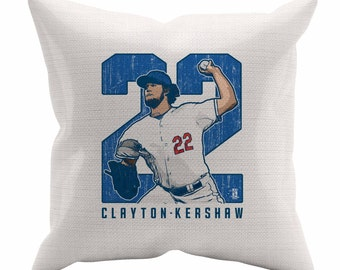 Clayton Kershaw Clutch B Los Angeles D Decorative Pillow MLBPA Officially Licensed