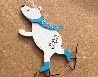Personalised Christmas Decoration Polar Bear Child Xmas Gift