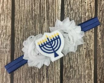 menorah headband, hanukkah headband, baby headband, holiday headband, hanukkah, jewish headband