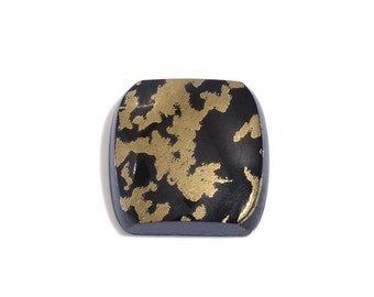 Black Goldenite Quartz Cushion Cabochon Loose Gemstone 1A Quality 10mm TGW 4.10 cts.