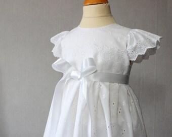 Christening Dress, Baptism Gown, Baptism Dress Baby girl, Blessing Dress, White Baby Dress, Flower Girl, White Toddler Dress