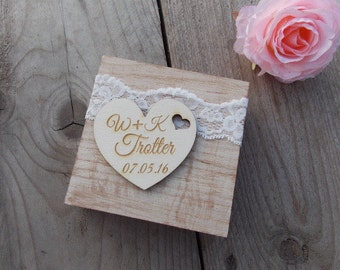 Ringbox 'First and Last Names' - wedding/ring bearer pillow/rings/wedding decoration/wedding accessoires