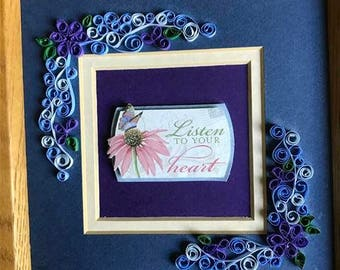 Listen to your Heart, Quilled, Paper Quilling, Paper