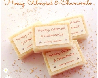 Organic Honey, Oatmeal and Chamomile soap, Honey and Oatmeal soap, Handmade soap, Honey, soap bars, Soaps for sensitive skin, Natural soap,