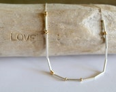 I Love You Morse Code Necklace, Love Necklace, Morse Code Jewelry, I love you Gift, Sister Necklace, Gold Morse Code, Gold Dainty Gifts