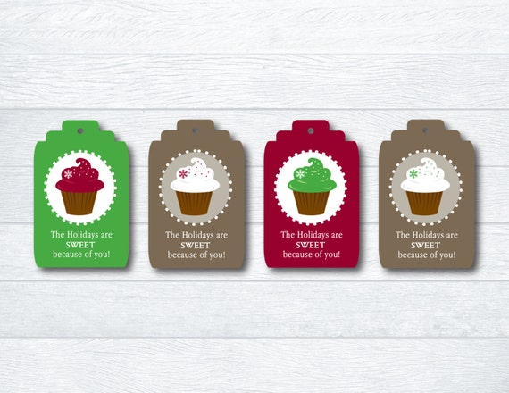 Christmas Gift Tags / Baked Goods Tags / Hanging Gift Tags