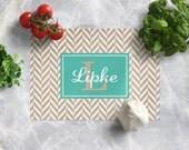 Monogram Cutting Board - Custom Cutting Board - Personalized Cutting Board - Tempered Glass Cutting Board - Housewarming Gift - Wedding Gift