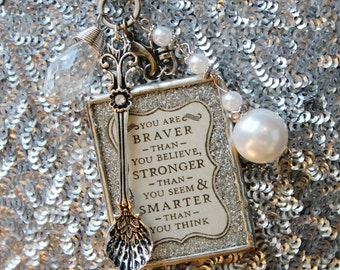 Braver Stronger Smarter Glitz and Glam Necklace