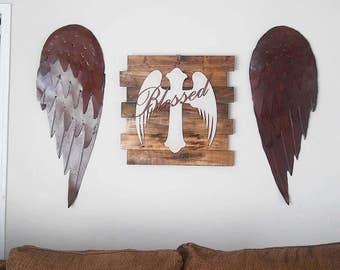 Large Metal wings