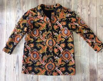 Vintage wool dress/shirt 1970s