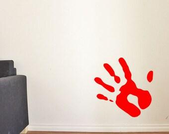 Bloody Handprint Etsy