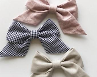 Trio Set : retro baby bows