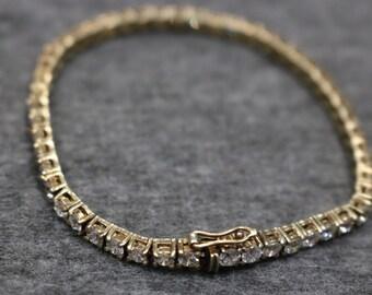 Nice Sterling Silver, Vintage Bangle Bracelet with Gemstones