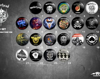 collection sheets Motorhead / / Motorhead buttons collection