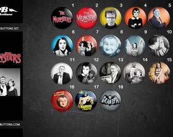 The Munsters buttons collection / / collection of plates The Munsters